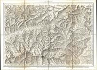 Tableau pour servir à l'assemblage de la carte topographique-militaire des Alpes en douze feuilles [Map 02]