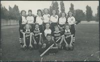 Baseball, 1940's : Kaufman Rubber Co. girls' softball team
