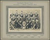 "Hockey, 1930's : Kaufman Rubber Co. Industrial ""Y"" Senior Champions, 1936-1937."