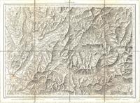 Tableau pour servir à l'assemblage de la carte topographique-militaire des Alpes en douze feuilles [Map 04]