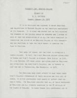 Founder's Day, Renison College: Remarks by B.C. Matthews
