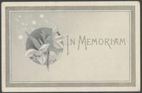 Ahrens, Charles Andrew memorial card