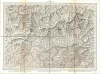 Tableau pour servir à l'assemblage de la carte topographique-militaire des Alpes en douze feuilles [Map 03]