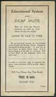 Educational system of the deaf mute