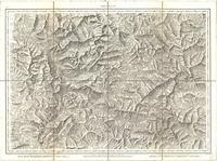Tableau pour servir à l'assemblage de la carte topographique-militaire des Alpes en douze feuilles [Map 07]