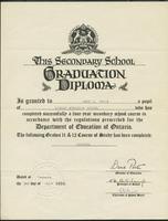 Secondary school graduation diploma