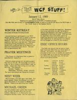 The WCF Stuff (1989 January 12)