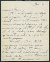 Correspondence to Mary Quayle Innis (January 31, 195?)