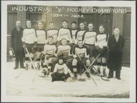 Hockey, 1930's : Kaufman Rubber Co. Industrial 'Y' Hockey Champions, 1934-1935