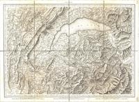 Tableau pour servir à l'assemblage de la carte topographique-militaire des Ales en douze feuilles [Map 01]