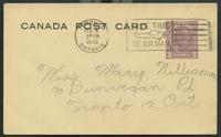 Canada Post Card (Feb. 0?, 1945)