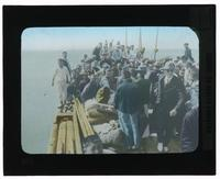 Group of men and women on a boat [Transparent]