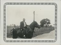 Clark on horseback.