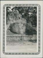 An unidentified woman on the Marquette & Joliet rock in Illinois.