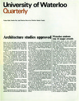 University of Waterloo Quarterly (1967 April)