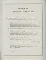 #12: Dominion criminal code, section 207