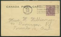 Canada Post Card (Jan 22, 1945)