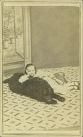 Clement, Janie Elizabeth Bowlby and dog