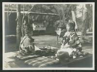 Two children at a picnic