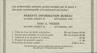 "#54: Contraceptive price list for ""properly recommended people"" [French]"