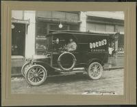 C.H. Doerr and Company : Doerr's Candies delivery car and driver