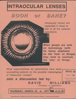 Intraocular lenses - boon or bane?