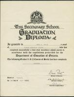Secondary school graduation diploma