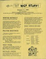 The WCF Stuff (1989 January 12)
