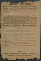 National American Woman Suffrage Association handbill