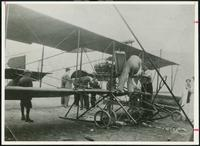 Biplane: Cecil Peoli of New York Landed his Bi-plane on a Grass Strip on Kingsway Drive