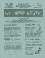 The WCF Stuff (1989 February 09)