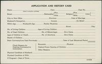 #16: Application and history card