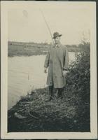 Harry Byers fishing.