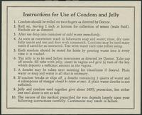 #38: Instructions for use of condom and jelly