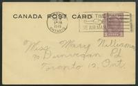Canada Post Card (Feb. 0?, 1945)