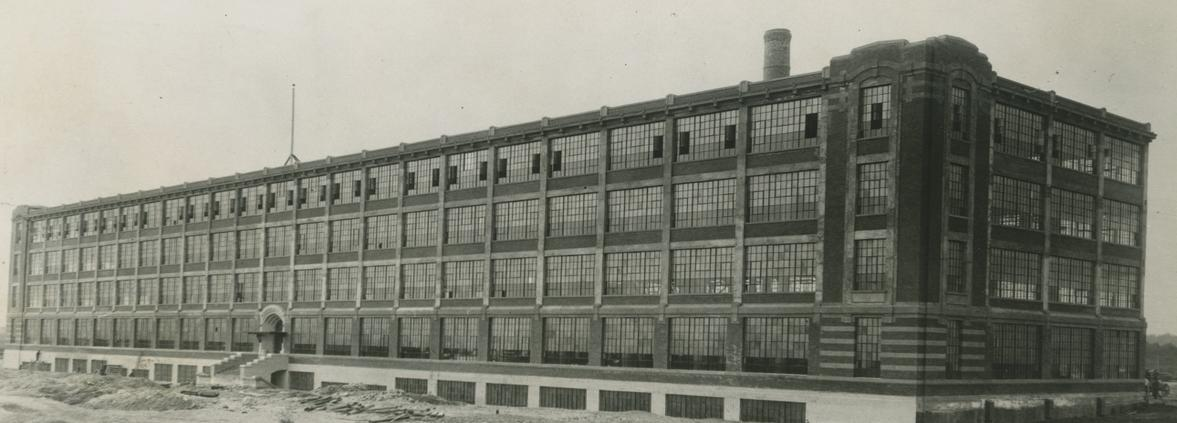 Exterior of Dominion Tire factory
